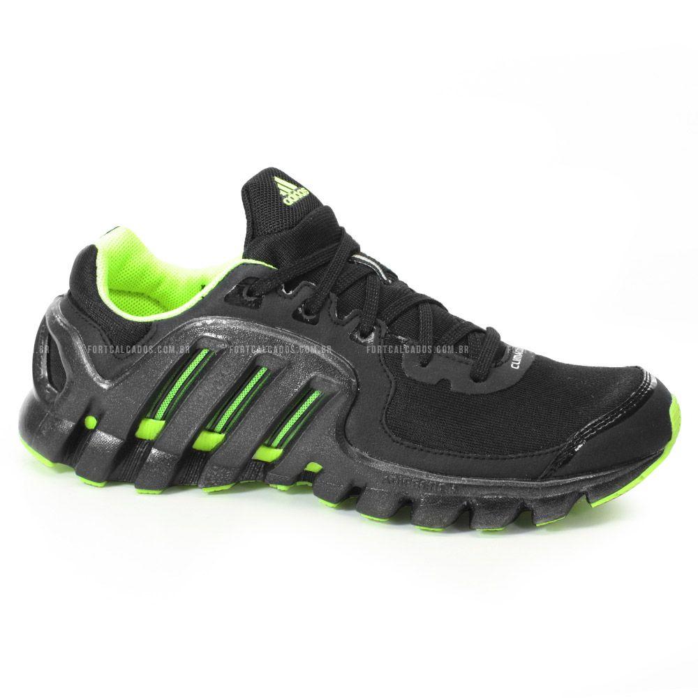 T�nis Adidas Climacool Xtreme Masculino Preto Verde Lim�o