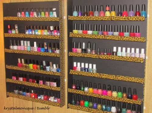 Diy Nail Polish Rack Diary Of A Addict Actual Instructions Not Just Pic And Looks So Easy Cute