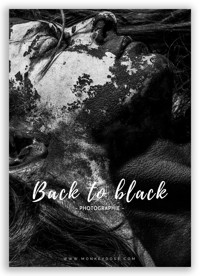 Photographie  © Nadia Wicker Back to black Séance d'autoportraits