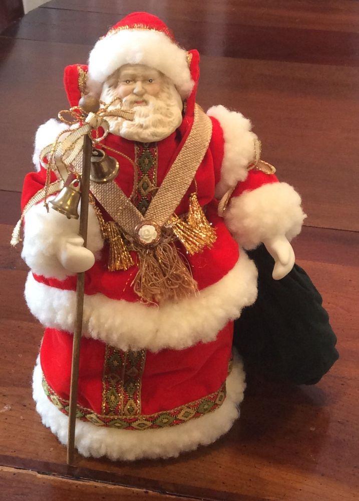 Details About Vintage Santa Claus Tree Topper Father
