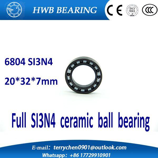Free shipping 6804 61804 full SI3N4 ceramic deep groove ball