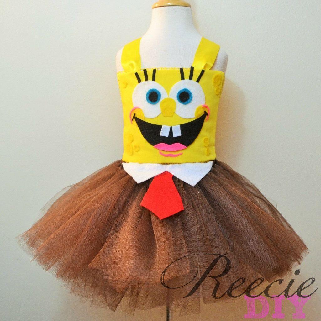 ceced6399b7 Spongebob Inspired Tutu Dress Disfraz De Bob Esponja, Disfraces Para Niños,  Vestidos Para Bebés