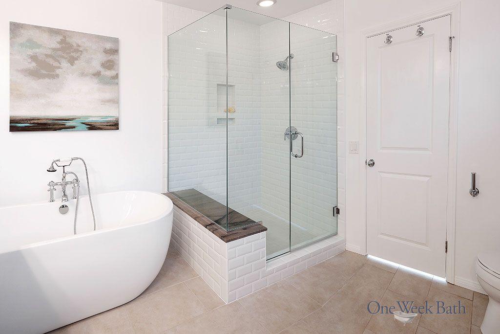 Transitional Design Style Bathrooms By One Week Bath Shower Remodel Bathrooms Remodel Spa Bathroom Design