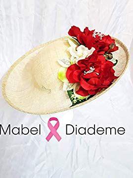 cd74e7604 Mabel Diademe tocados bodas accesorios glamour madrina comunión evento  festival pamela flor roja bodas de día