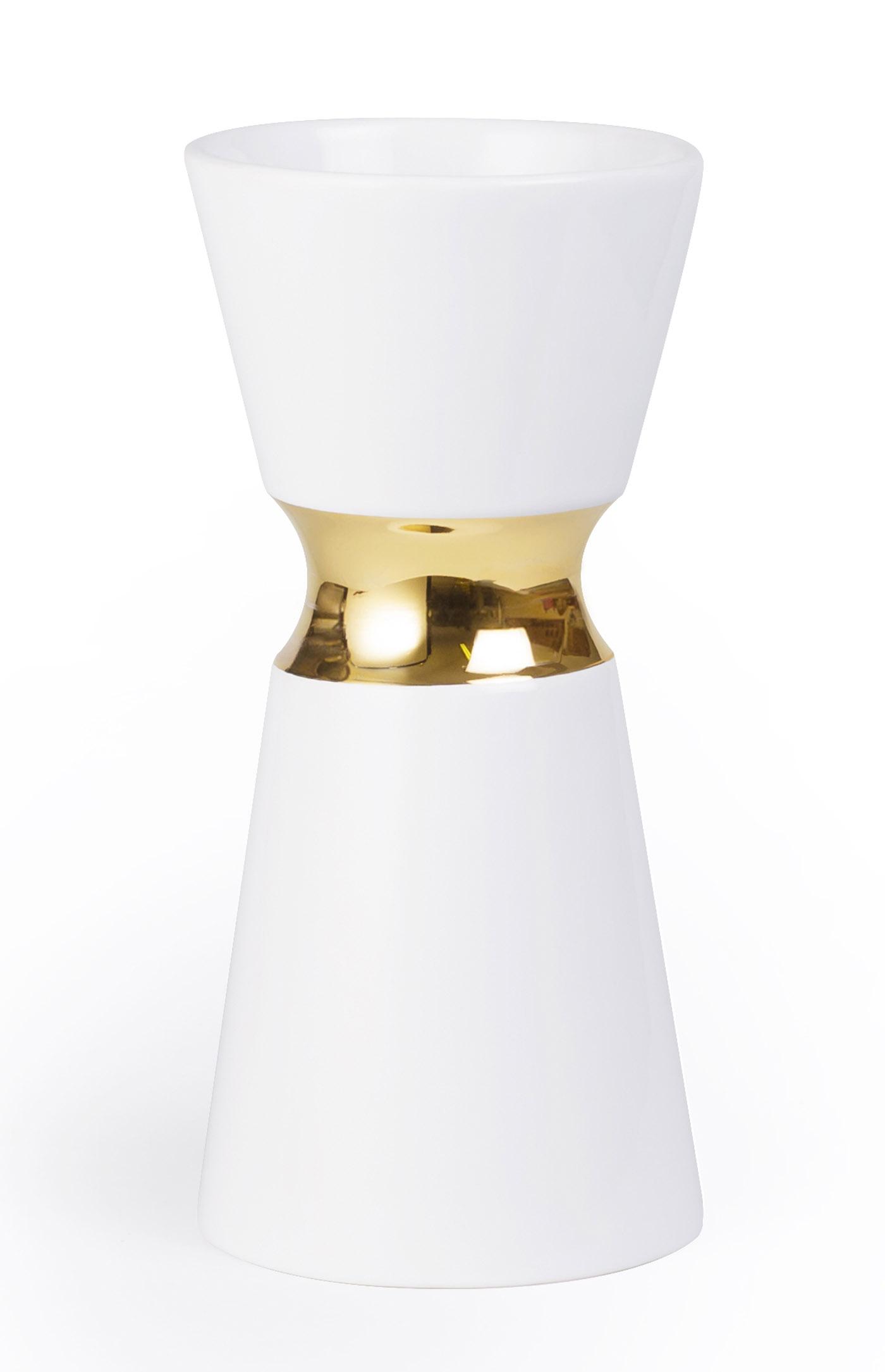 vase haut nec blanc et or vase haut hauts blancs et le. Black Bedroom Furniture Sets. Home Design Ideas