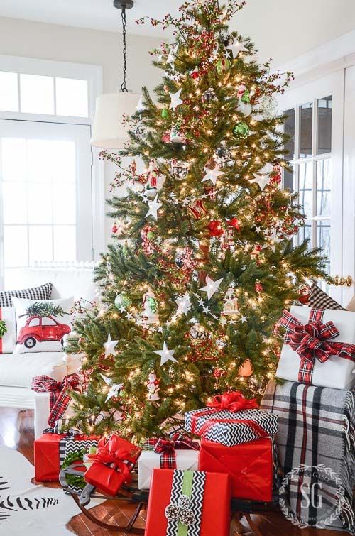 40+ Fabulous Rustic-Country Christmas Decorating Ideas Christmas - country christmas decorations