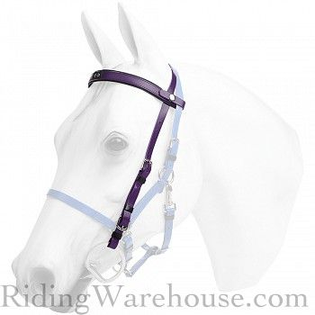 Zilco Deluxe Snap-On Trail Bridle Headstall Stainless