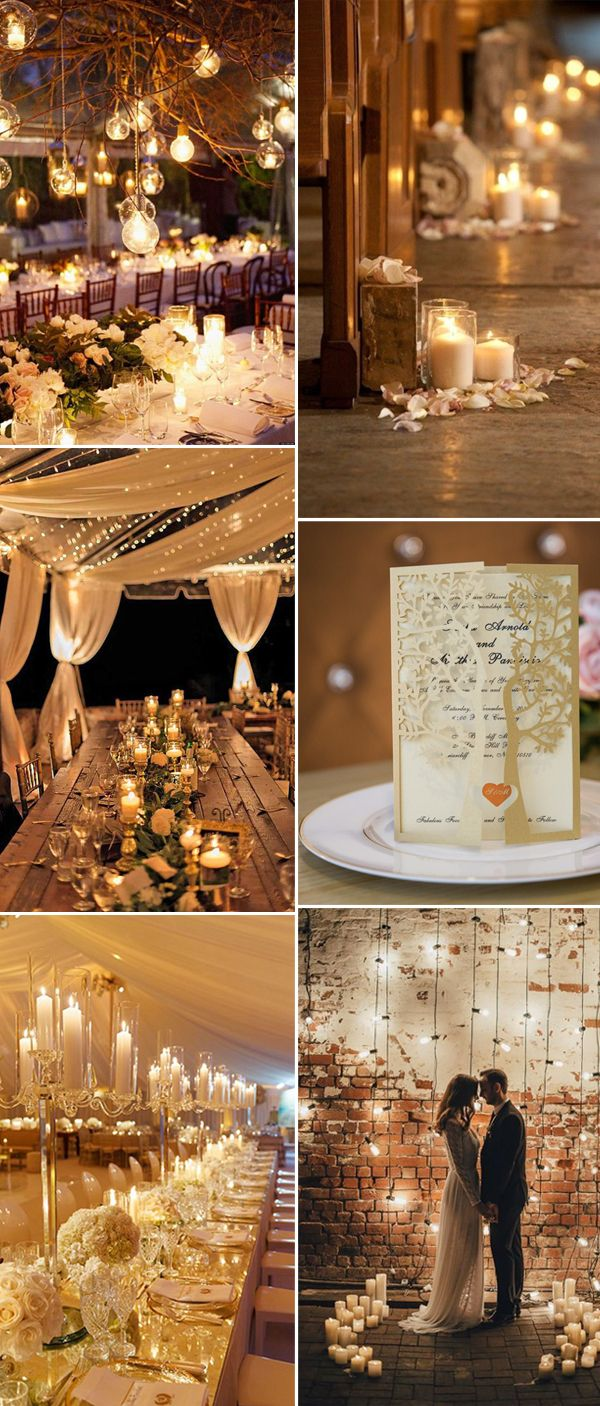 Wedding dinner decoration ideas   Perfect Ways to Decorate  Rustic Weddings  Lights Weddings