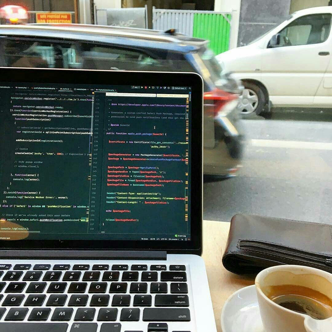 Workplace coding notebook macbook css php java