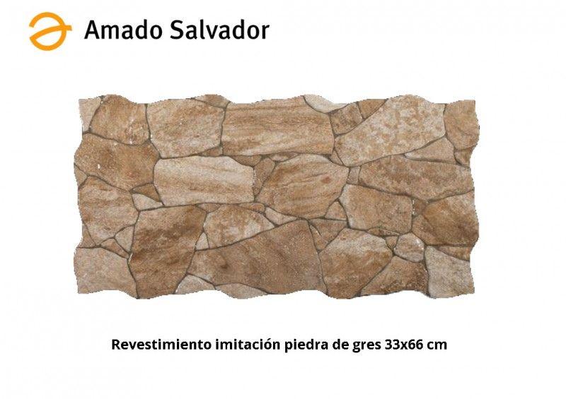 Revestimiento imitaci n piedra tierra 33 2x66 4 cm gres - Revestimiento imitacion piedra ...