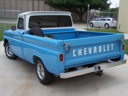Baby Blue Rear Vintage Trucks Chevy Trucks Classic Chevy Trucks