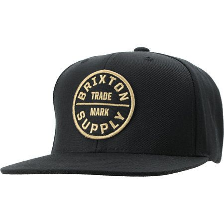 84e5f08e6b Head for the streets in style with the Brixton Oath III snapback hat in the  black