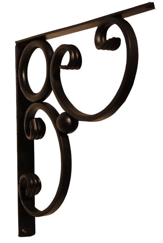 wrought iron scroll granite countertop supports