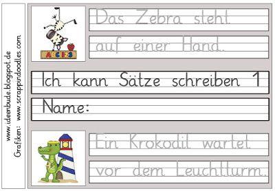 ideenbude ich kann s tze schreiben 1 schule schreiben deutsch unterricht deutsche s tze. Black Bedroom Furniture Sets. Home Design Ideas