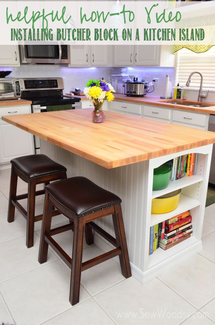 Helpful How To Video For @Sarah Kellam.com On Installing Butcher Block On A Kitchen  Island