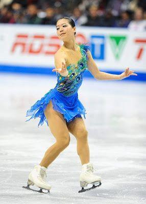 Akiko Suzuki  -Blue Figure Skating / Ice Skating dress inspiration for Sk8 Gr8 Designs.