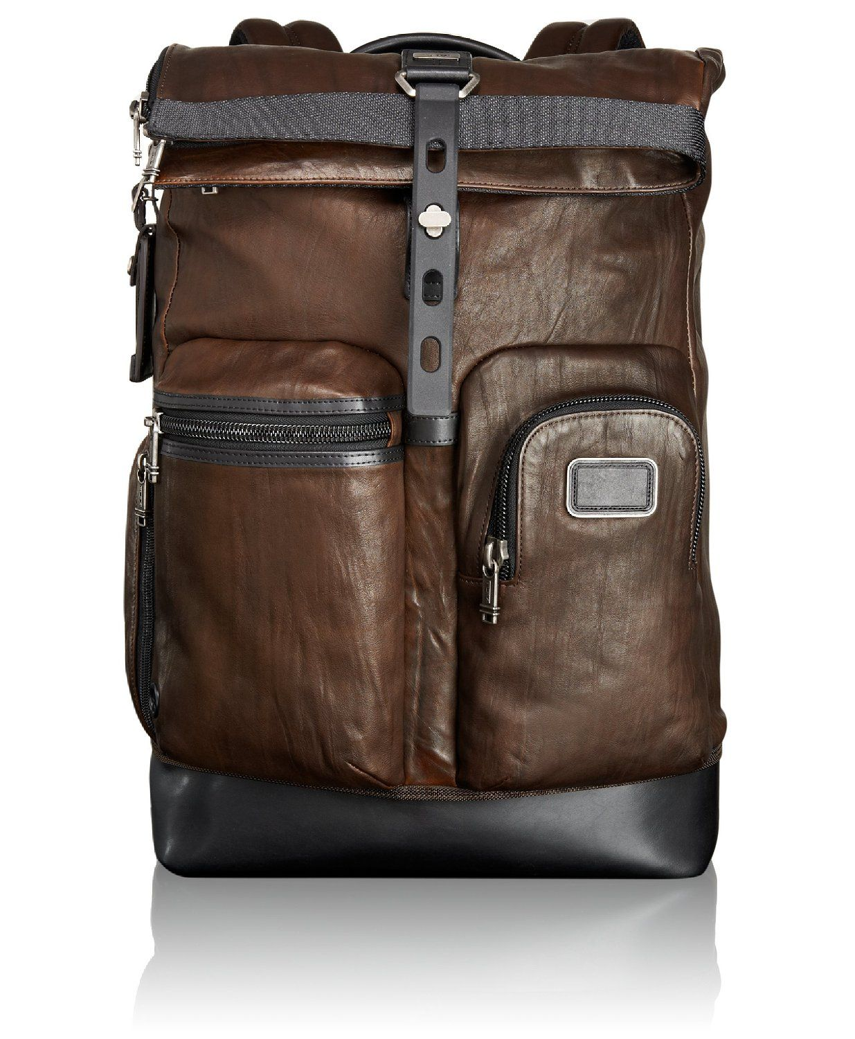 Amazon.com  Tumi Alpha Bravo Luke Leather Roll-Top Backpack 8c9563429a2