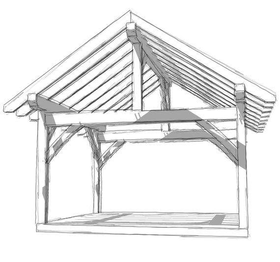 14x16 Timber Frame In 2020 Shed Plans Building A Patio