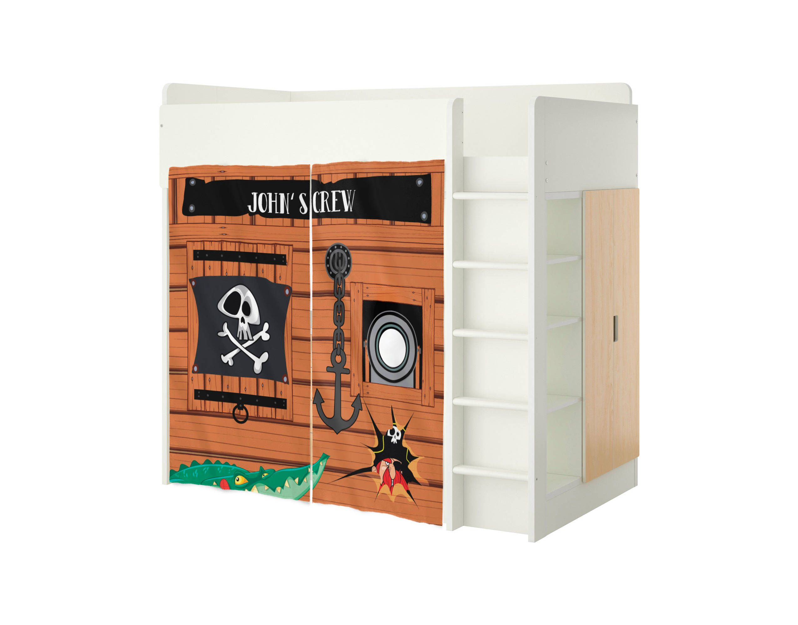 Custom Playhouse for Ikea Stuva Bed Pirates Playhouse Curtains Loft Bed Stuva Bed Tent Bunk Bed Accessories House Loft Bed Curtains  sc 1 st  Pinterest & Custom Playhouse for Ikea Stuva Bed Pirates Playhouse Curtains ...