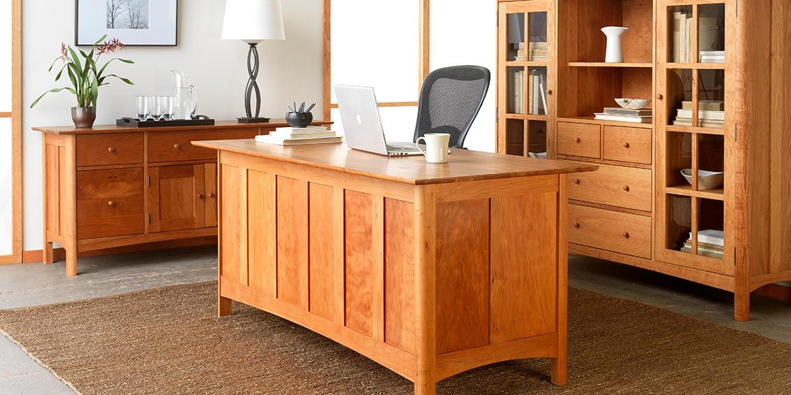 Modern Shaker Furniture Solid Hardwood Vermont Furniture Designs Simple Solid Wood Home Office Furniture Set Decoration