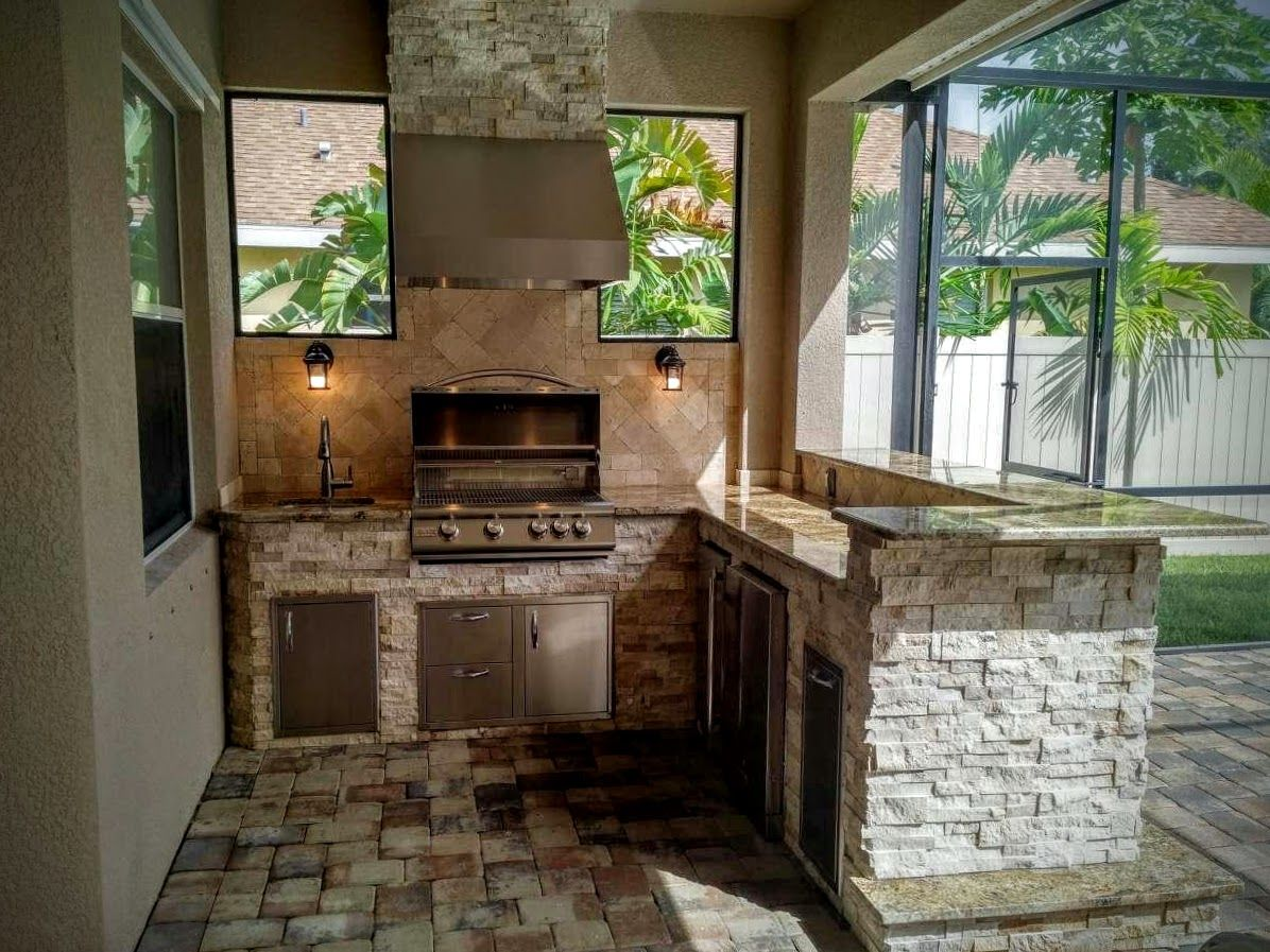 creative outdoor kitchens backsplash - creative outdoor kitchens