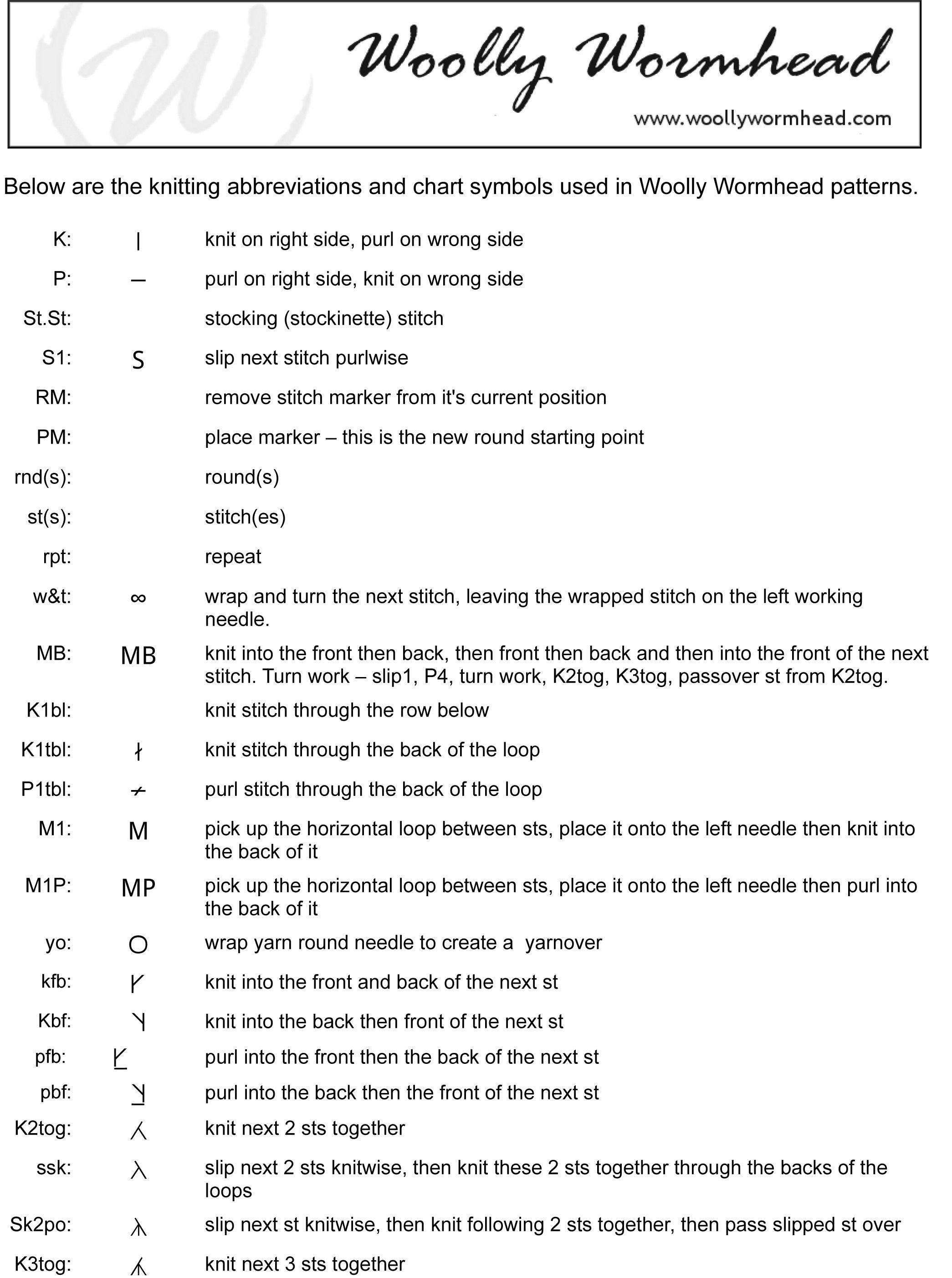 Crochet Abbreviations | Crochet abbreviations, Half double crochet ... | 2805x2090
