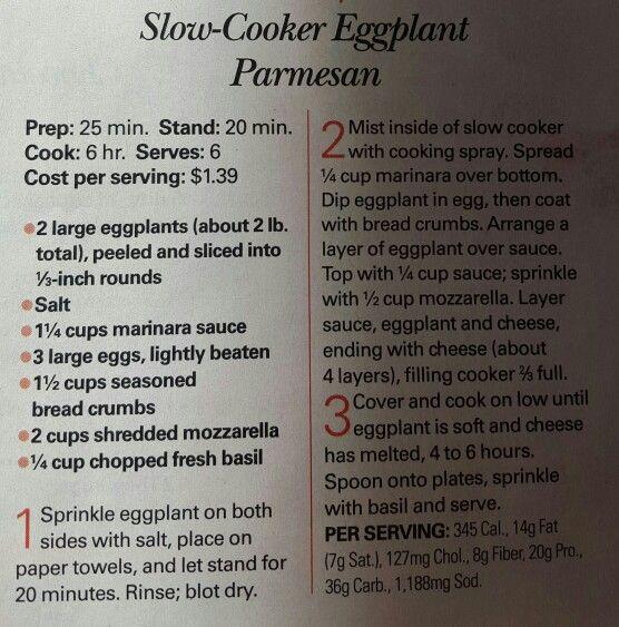Egg plant parmesan slow cooker