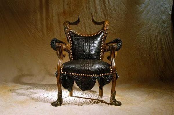 Nice African Furniture | STRANGE AFRICAN MADE FURNITURE   SKINS, TUSKS U0026 HORNS!    BLACK .