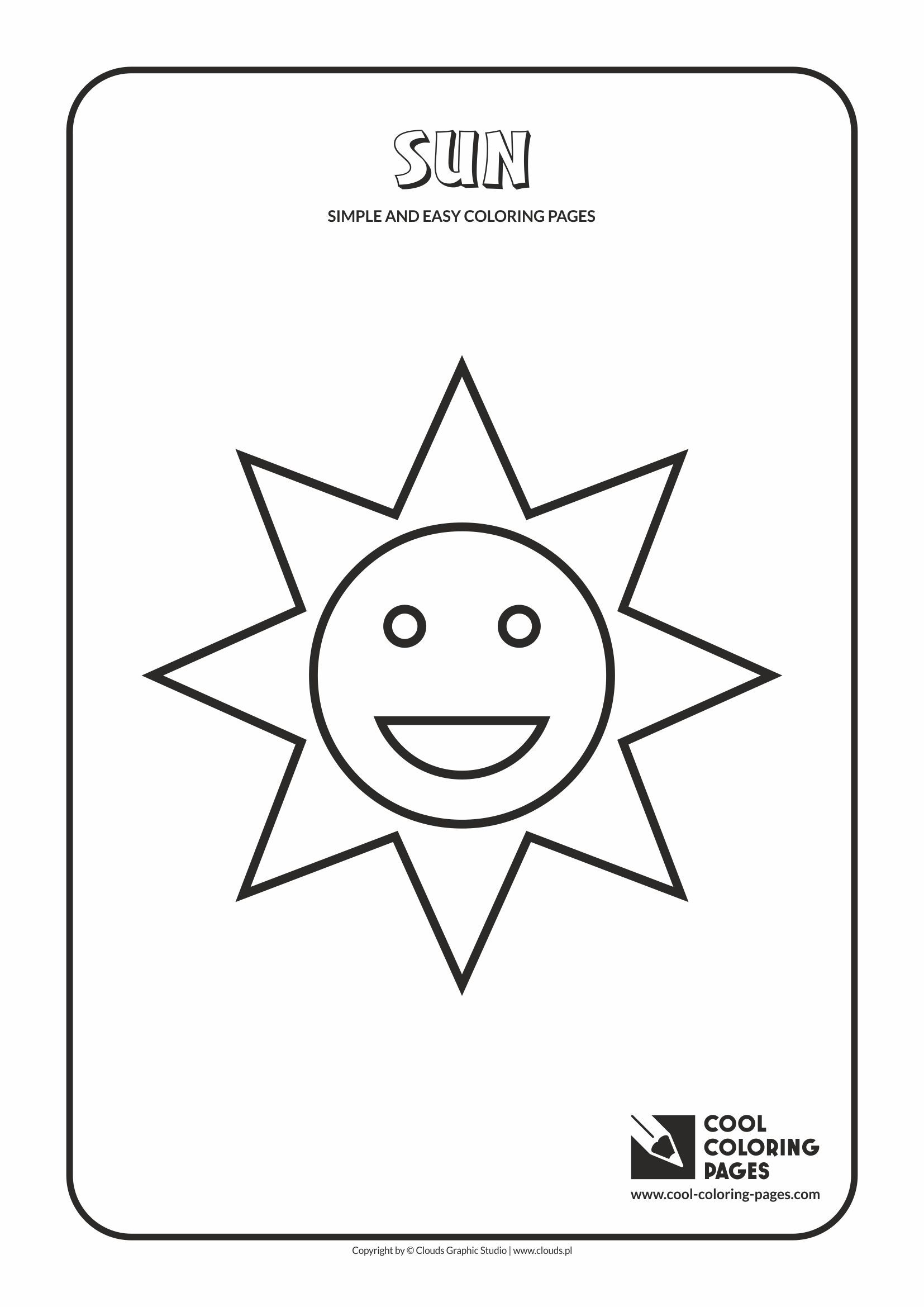 simple and easy coloring pages for toddlers sun simple and easy