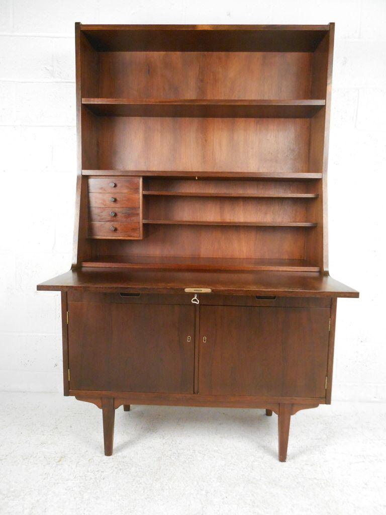 Hp Hansen Rosewood Secretary Desk Secretary Desks Modern Secretary Desk Secretary