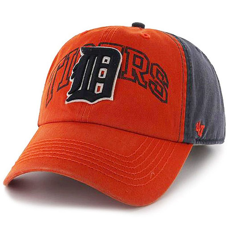 Detroit Tigers '47 Stonehill Clean Up Adjustable Hat - Orange/Navy
