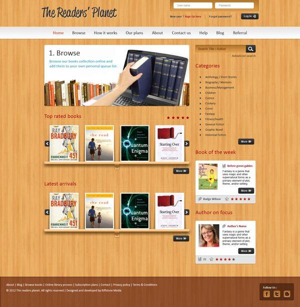 Website design for an online library management system. on Behance ...