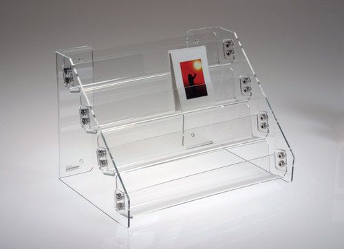 Clear Acrylic Two Tiered Shelf For The Countertop Is Perfect For