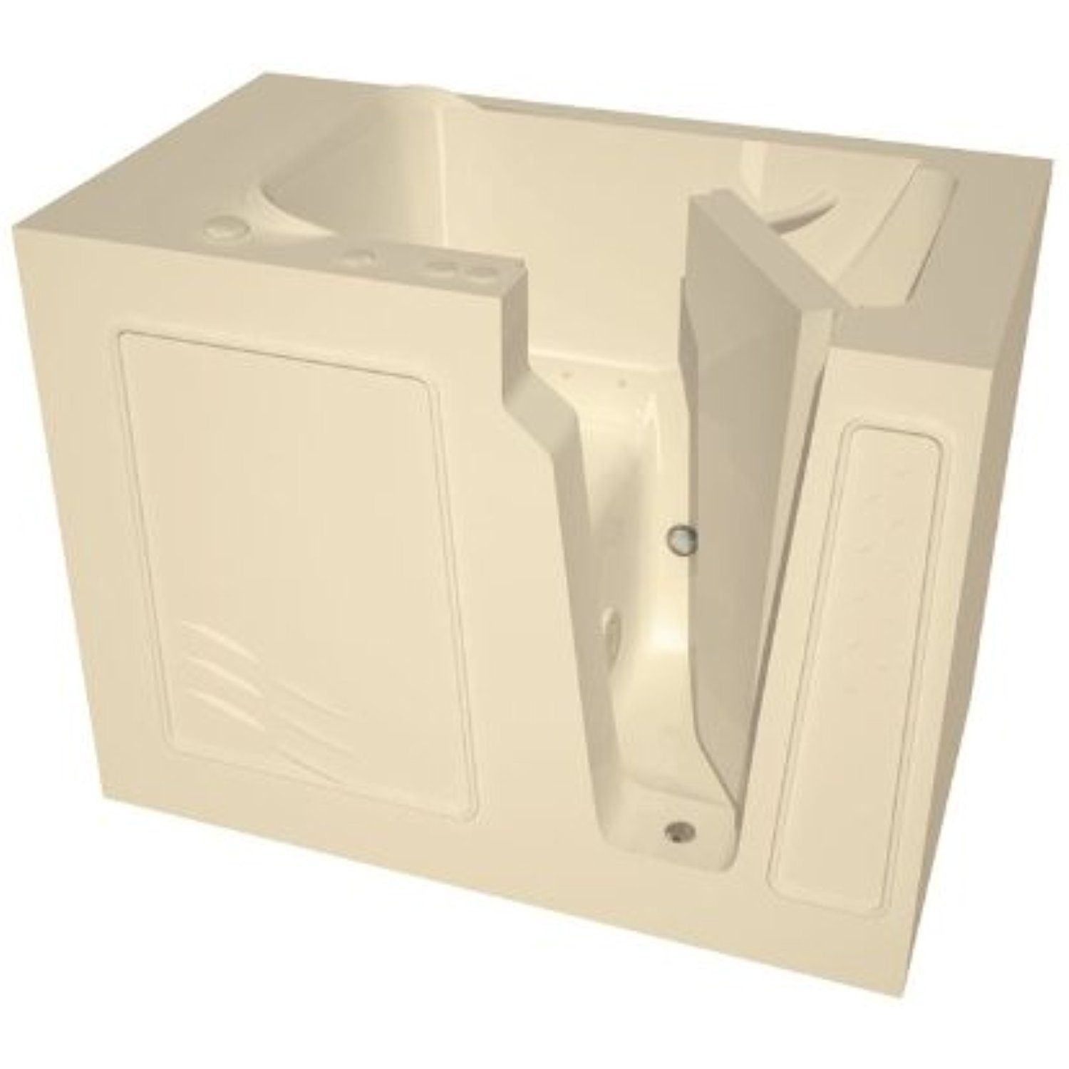 Meditub MT2952RBA Curved Door 29 by 52 by 40-Inch Air Jetted Walk In ...