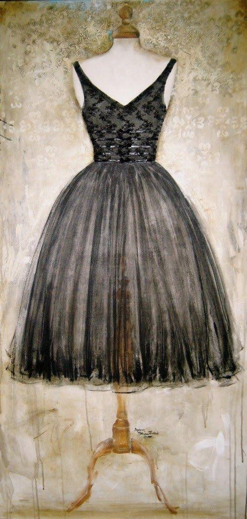 Fashion Art Paintings by Andrea Stajan-Ferkul
