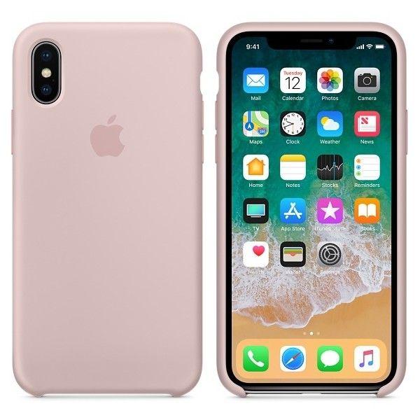 coque iphone x silicone rose