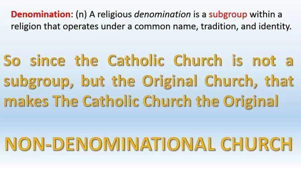 catholic view on non-denominational