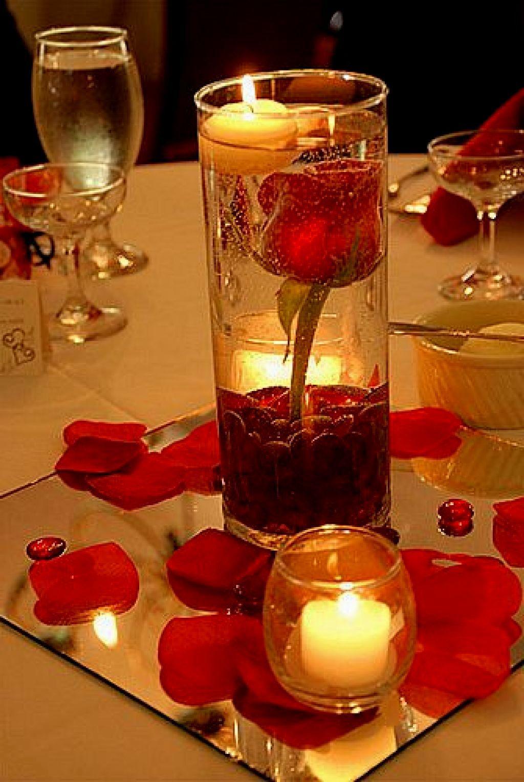 utilisez des bougies flottantes pour votre diner aux chandelles bougies pinterest deco. Black Bedroom Furniture Sets. Home Design Ideas