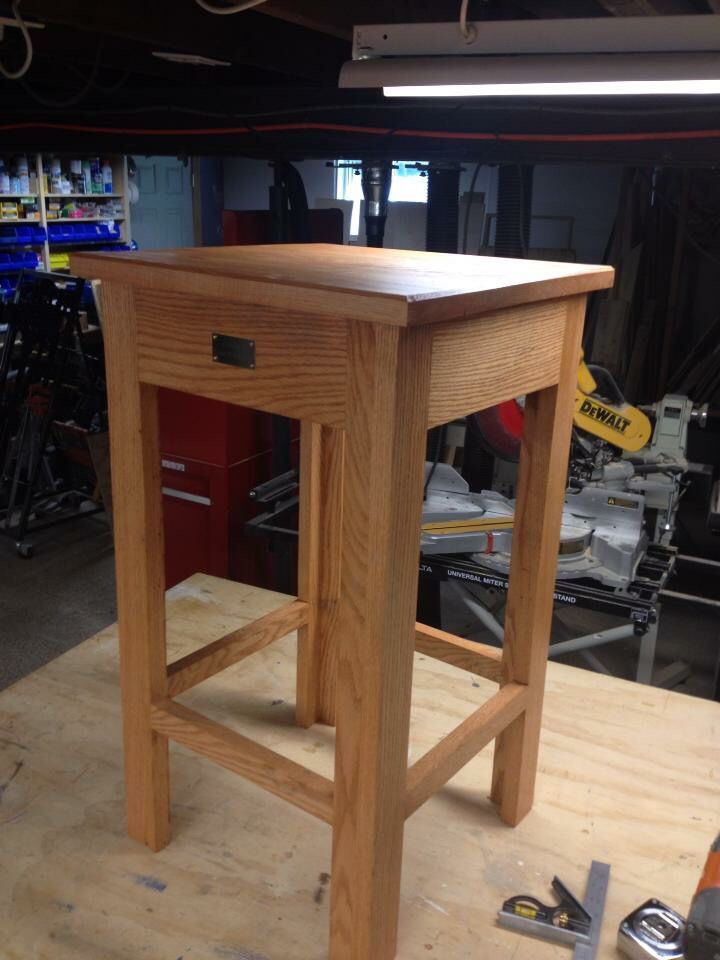 Red oak offering table for a local church | Red oak, Home ...