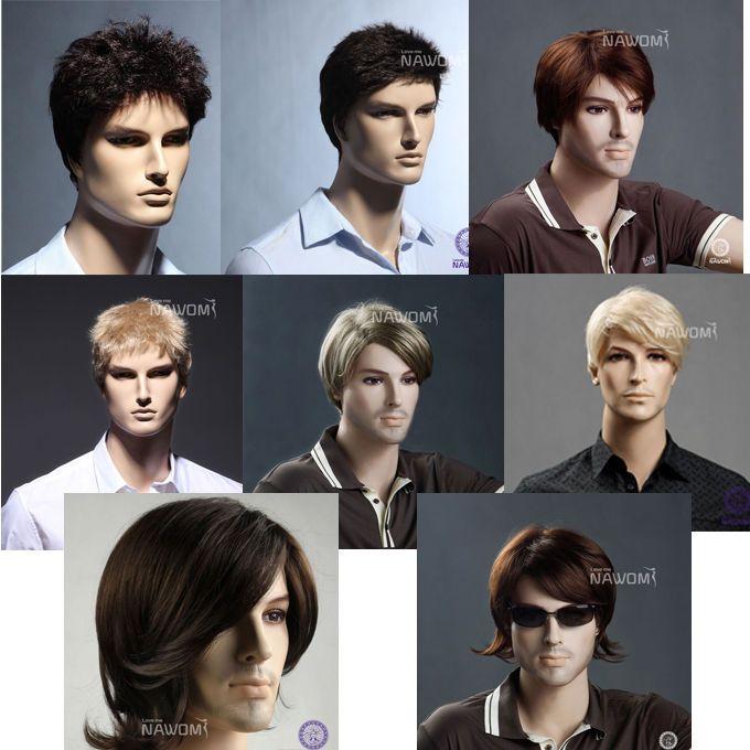 New 100 Kanekalon Fiber Synthetic Human Man Male Hair Wig Handsome