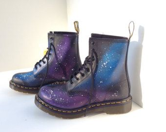 Hand-Painted Galaxy Doc Marten Boots   Dr.Martens   Pinterest ... f6b69f90740b
