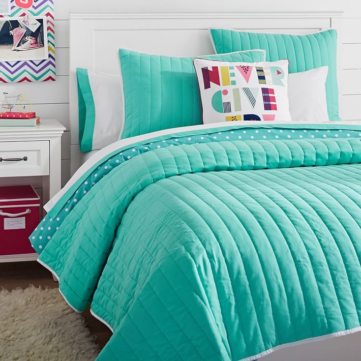 Color Pop Reversible Quilt Sham Cute Bedroom Ideas