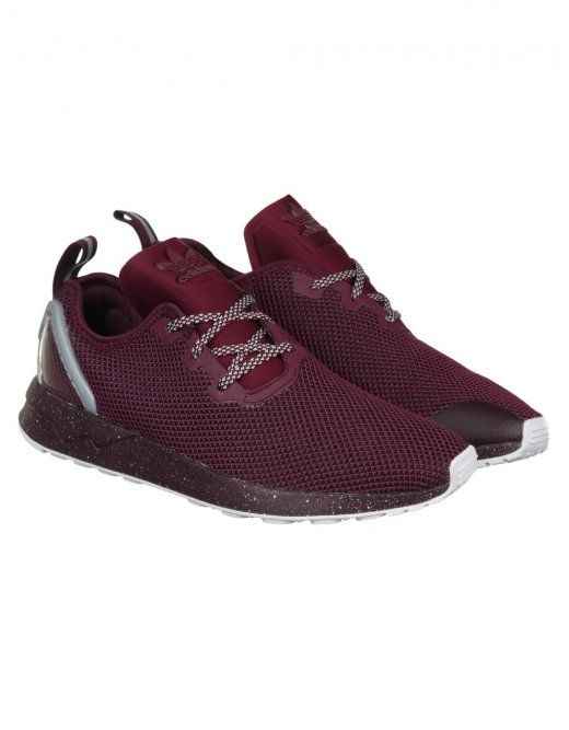 9224d8e32 Adidas Originals ZX Flux Racer ASYM Shoes - Maroon