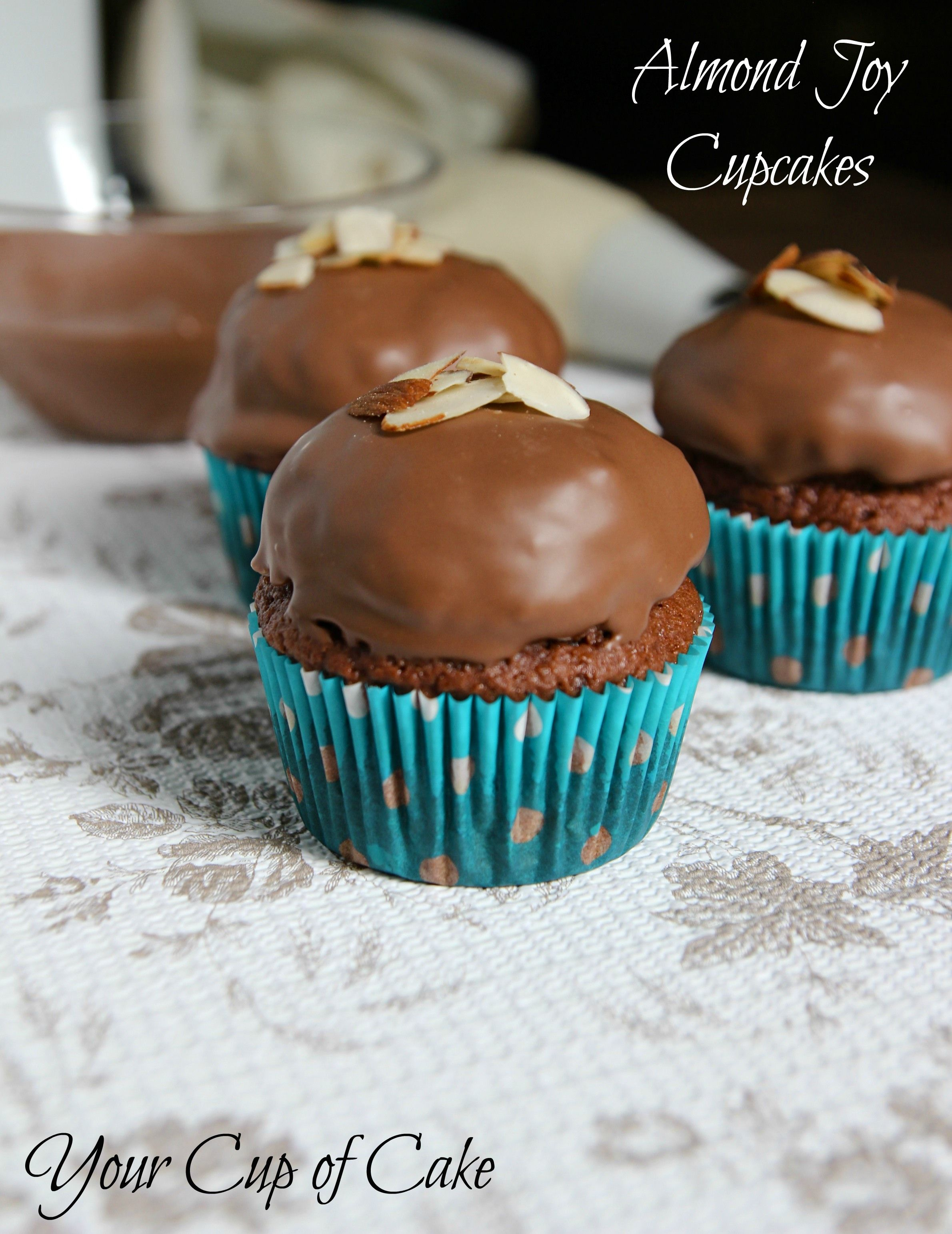 Almond Joy Cupcakes....there's coconut under that chocolate! Yum!
