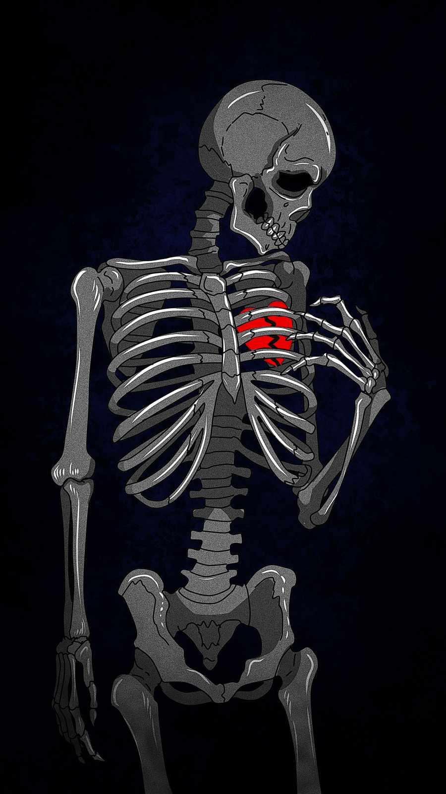 Broken Heart Skeleton IPhone Wallpaper - IPhone Wallpapers
