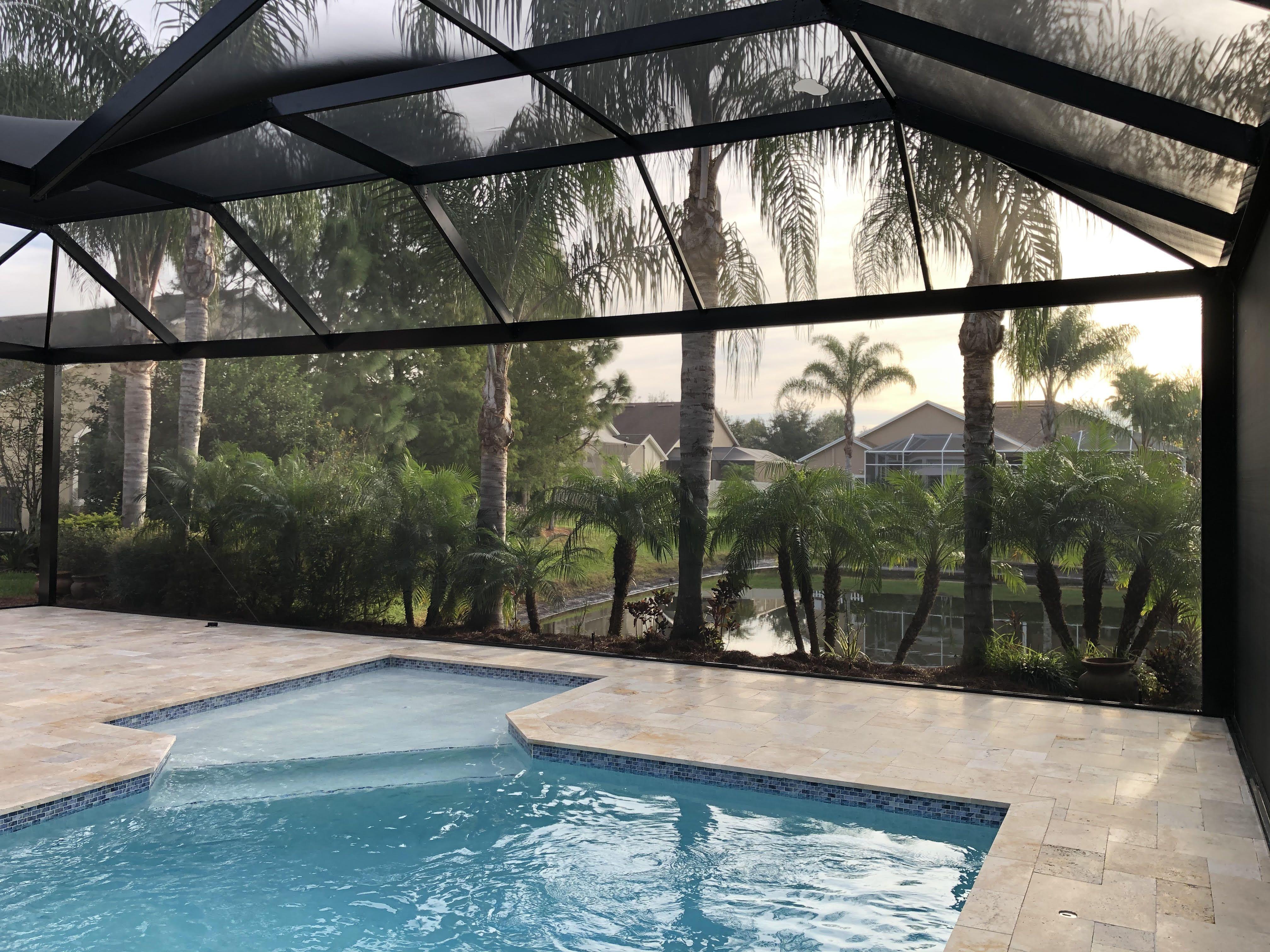 Custom Swimming Pool Enclosures Custom Swimming Pool Florida Pool Pool Enclosures