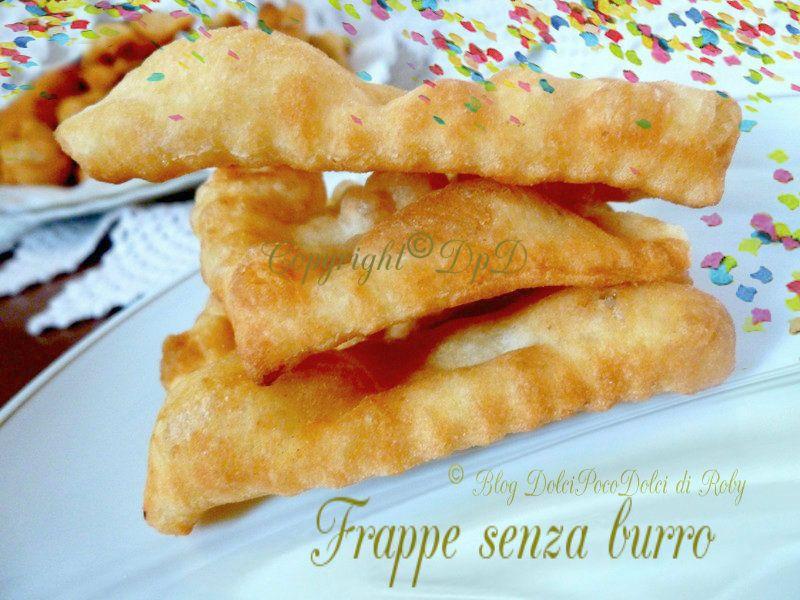 Frappe senza burro chiacchiere dolci di carnevale http://blog.giallozafferano.it/dolcipocodolci/frappe-senza-burro/