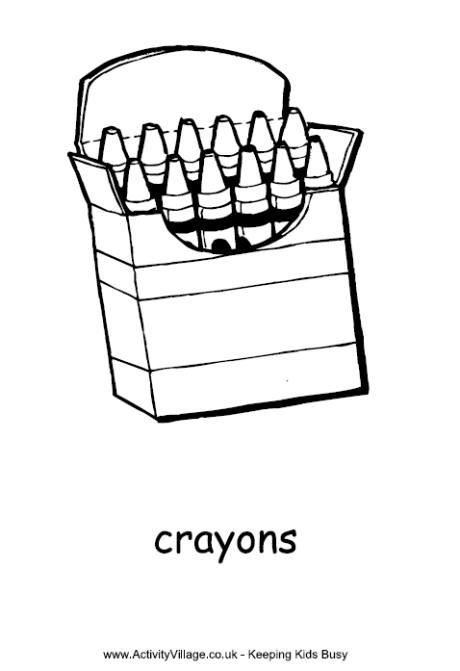 Crayons Colouring Page Dibujos Para Colorear Dibujos