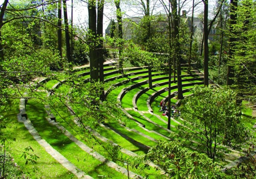 The outdoor amphitheater of swarthmore college for 14 m4s garden terrace