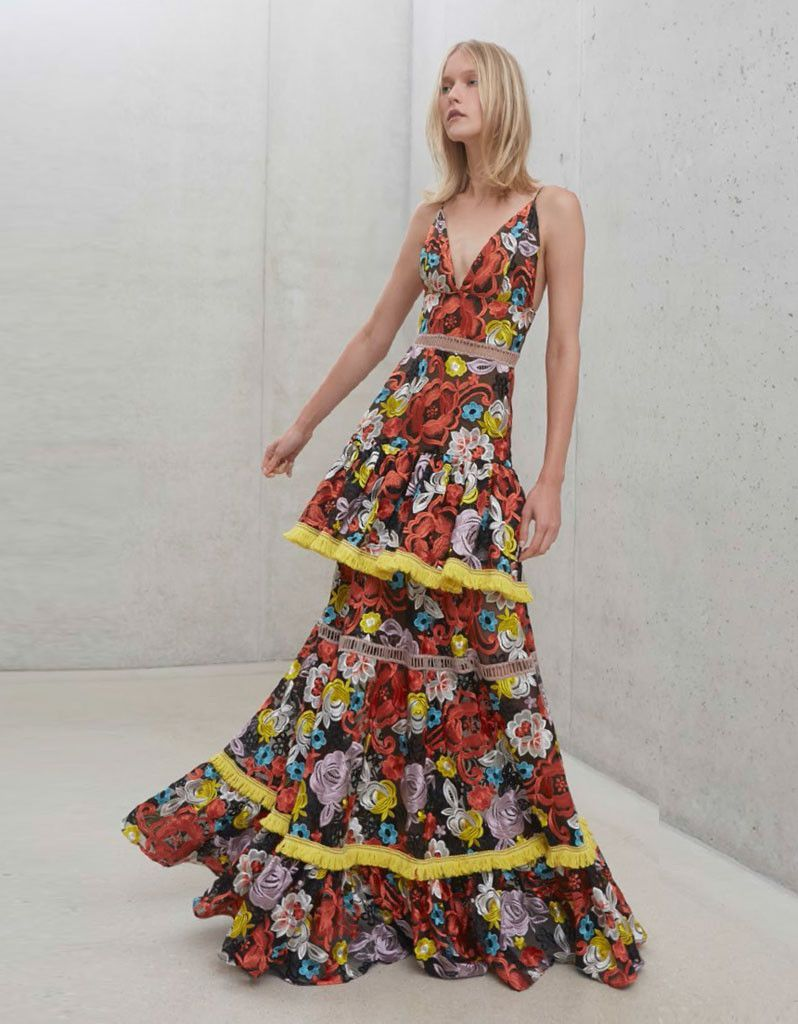 Alexis Suri Gown in Floral Embroidery